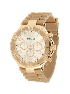 Ernest Horloge Rose Goud - Camel is een prachtig rose gouden horloge met een…