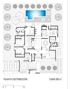 La Forma Moderna en Latinoamérica: CASAS DE CAMPO Sketches Arquitectura, Villa Plan, Cottage Plan, Apartment Layout, Passive House, Dream House Plans, Flat Roof, Plan Design, Modern House Design