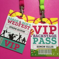 A great and unique twist on a place name on these festival inspired lanyard place names by Fuschia.