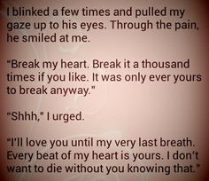 """""""The One"""" Chapter 30 Page: 295 HEY. THATBWAS JUSYT THE SOUND OF MY HEART SHATTERING, ITS ALL GOOD"""