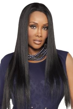 Violeta - Remi Human Hair Lace Front Wig Overall Length) - Vivica Fox - Pure Stretch Cap Wig Hairstyles, Straight Hairstyles, Human Lace Front Wigs, Vivica Fox, 100 Human Hair Extensions, Quality Wigs, Black Goddess, Wigs Online, Love Your Hair