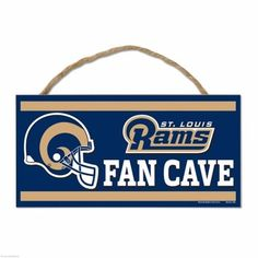 Los Angeles Rams Wood Fan Cave Sign