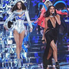 Megan Puleri walks by Selena Gomez performing at the Victoria's Secret Fashion Show 2015? | #victoriassecret #VSFS #VSFS_2015