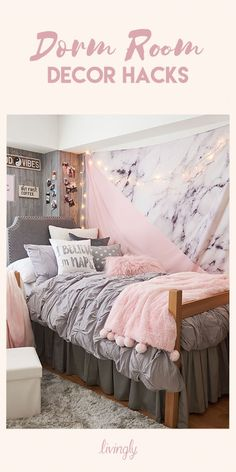 Whether you're looking for inexpensive ways to create the wall art of your dreams, or organization suggestions for all your makeup and jewelry, we have all the tips and tricks for you. Check out our list of dorm room hacks that are guaranteed to make this school year the best one yet.