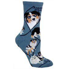 Australian Shepherd Socks UK Size 7 to 10 http://www.abentleycushions.co.uk/detail.asp?pID=5530