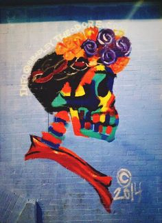 Frida Kahlo by Bradley Theodore - Mission Cantina, Lower East Side, NYC - 2014 - has been erased (LP)