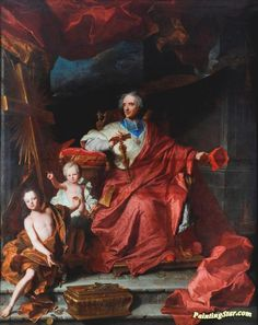 Cardinal De Bouillon Opening The Holy Door In 1700 Artwork by Hyacinthe Rigaud