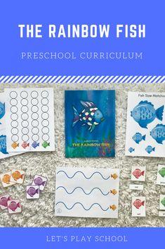 The Rainbow Fish preschool activities Preschool At Home, Preschool Curriculum, Preschool Activities, Kindergarten, Homeschool, Child Love, Your Child, Rainbow Fish Activities, Pre K Age