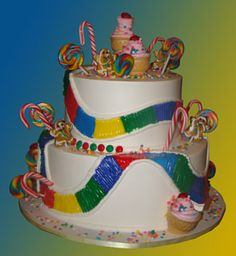 "candy land cake | Candy Land"" 2-Tier Buttercream Cake: Specialty Cake 