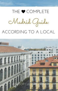 The Complete Paris Guide: According to a Local; we asked a local for all her best tips for Madrid, Spain. You'll have plenty of things to do as you eat, see, and adventure through the city filled with culture like a local! Enjoy the best food, the best hidden gems, and the best joints that the locals frequent.