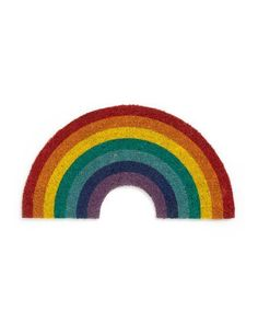 leave your worries at the door! this rainbow doormat from sunnylife will greet guests with the warmest of welcomes and is sure to put a smile on every face that enters. because how can you see it and not smile? that's just crazy talk. Photoshop Elementos, Gifts For Your Sister, Aesthetic Stickers, Cute Icons, Cute Stickers, Wall Collage, Overlays, Design Art, Rainbow