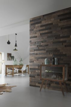 Personalize your Walls With DIY Peel & Stick Wood Wall Paneling and add Texture, Volume and Elegance to Your Decor. Made of Solid Wood. Stick On Wood Wall, Peel And Stick Wood, Timber Walls, Wood Panel Walls, Wood Siding, Home Cinemas, Black Kitchens, Real Wood, Sweet Home
