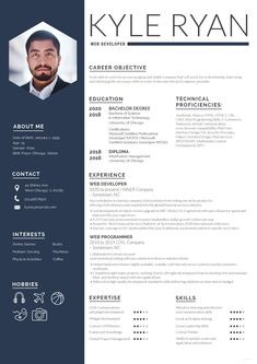Free Web Developer Resume CV Template in Photoshop (PSD) Format - CreativeBooster Creative Cv Template, Resume Template Examples, Resume Template Free, Website Template, Free Resume, Microsoft Word Resume Template, Resume Ideas, Web Designer Resume, Resume Design