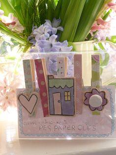 'Love Home' Peg Paper Clips £9.50