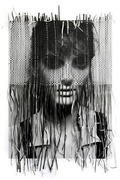 Portrait made in collaboration between photographer Michelangelo di Battista and illustrator Tina Berning Paper Weaving, Weaving Art, Photomontage, Tina Berning, Tachisme, Gcse Art, Michelangelo, Grafik Design, Art Plastique