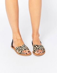 London Rebel Leopard Cut out Sandals