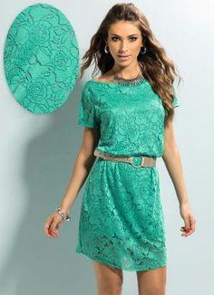 Vestido Devorê Verde