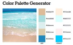 Perfect beach color palette for our wedding! Beach Color Schemes, Beach Color Palettes, East Coast Beaches, Us Beaches, Color Palette Generator, Captiva Island, Girl Guides, Family Memories, Where The Heart Is
