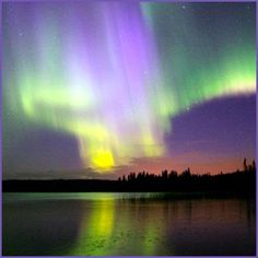 "Northern hemisphere's aurora borealis. My parents woke us up late at night to watch, while vacationing in Maine. Mom said there was an ""angelic phenomenon""  outside and I thought it was going to be a ghost."