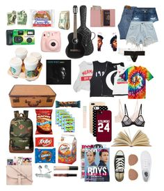 """""""Girls road trip!(Read the description!)"""" by be-robinson ❤ liked on Polyvore featuring Fujifilm, Chanel, Royce Leather, Levi's, 3x1, Chicnova Fashion, Herschel Supply Co., Uncommon, Samsung and Billabong"""