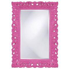 Barcelona Hot Pink Rectangle Mirror Rectangle Mirrors Home Decor