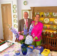 Alexandra & her husband Peter in their Stonington CT home