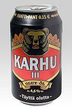 Karhu iii, Pantti - pant 15 cent, olut öl birra bier pivo cerveza, 4.6%