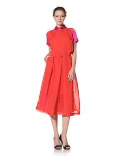 80% OFF Preen Line Women\'s Kelly Dress (Red/Pink/Navy)