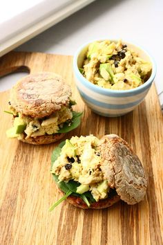 Curried Chicken Salad with Crisp Green Apples and Soft Raisins
