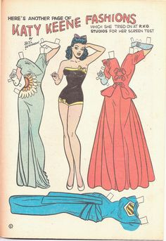 Wilbur No 28 Dec 1949 Comic Book Has Katy Keene Story and Katy Paper Doll | eBay* 1500 free paper dolls The International Paper Doll Society Twitter #QuanYin5 Arielle Gabriel artist *
