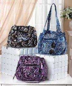 $22.14 New Quilted Black Paisley Organizer Carryall Handbag   yardsellr - bit_ly/QepaXz