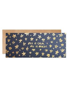 All is Calm, All is Bright Card | Sycamore Street Press