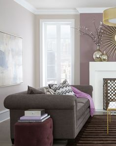 What Color Go Good With Purple For House