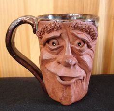 Mug design with face