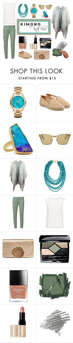 """""""Kimono Style & Earth color"""" by kokooo7 on Polyvore featuring Michael Kors, Diane Von Furstenberg, Pippa Small, Oliver Peoples, New Look, Kenneth Jay Lane, AG Adriano Goldschmied, Finders Keepers, Chloé and Christian Dior"""