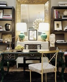 This is a home office!  LOVE IT!
