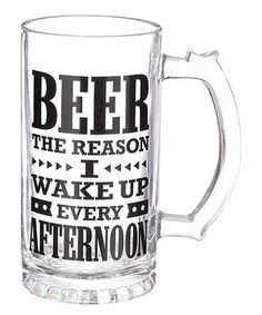 Another great find on #zulily! 'The Reason I Wake Up' Beer Stein - Set of Three #zulilyfinds
