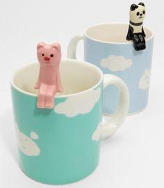 Cloud Mug With Animal Spoon - Shop Japanese Novelties Stars Disney, Cute Cups, I Love Coffee, Mug Cup, Decoration, Coffee Cups, Spoon, Tea Pots, Just For You