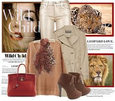 """""""Animal Print Scarf"""" by cuteym ❤ liked on Polyvore"""