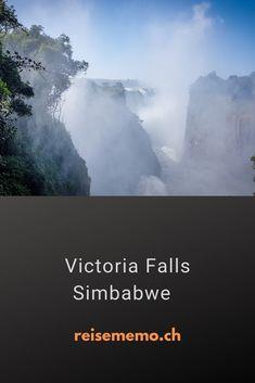 Die Victoria Falls sind nämlich ein gigantisches Naturschauspiel, je nach Betrachtungsweise sogar der grösste Wasserfall der Welt!   #VictoriaFalls #Simbabwe #Reisetipp Zimbabwe, Waterfall, Travel Advice, World, Viajes