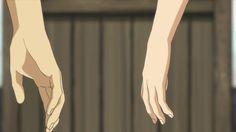 Risultati immagini per anime hand gif