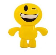 Inflatable Emoji Man Toy | Winking Smiley Emoticon