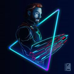 36/365 : NEON AVENGERS Artwork : 1 - The Good Ol' Captain ♥️ Aging like a fine wine . Gonna make it into a poster. But that's a story for tomorrow. I totally loved playing with neons in my last sneakers artwork so I tried to do the same just with some more refinement and details. This is a new style kinda. I might be doing all the characters ✌️@marvel @marvelstudios Now would be a good time to hire me  . Full brightness preferred. Zoom in for details ☀️ ➖➖➖➖➖➖➖➖➖➖➖➖➖➖➖➖➖ #art #artist...