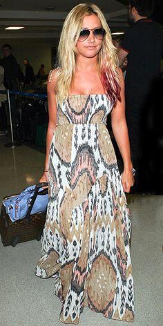 Ashley Tisdale Tribal Maxu Dress At Play!