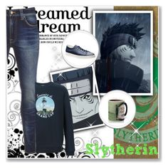 """Hogwarts Students: Kisame Hoshigaki"" by bambolinadicarta ❤ liked on Polyvore featuring Nudie Jeans Co., A.P.C., Trend Setters, men's fashion, menswear, slytherin, hogwarts, narutoshippuden, hogwartshouse and KisameHoshigaki"