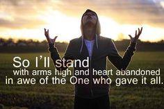 I'll stand... no matter what!