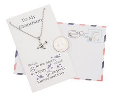 Fin Airplane Necklace, I Love You to the Moon and Back Grandson Gifts, Happy Birthday Cards Parent Gifts, Nurse Gifts, Teacher Gifts, Graduation Gifts For Her, Best Friend Necklaces, Funny Birthday Cards, Birthday Gifts, Jewelry Quotes, To Infinity And Beyond