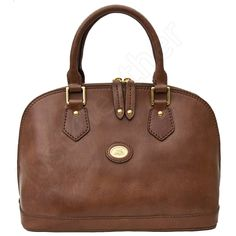 The Bridge 2 Handle Luxury Brown Leather Bag Story Donna