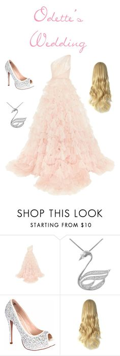 """""""Odette's wedding"""" by whitneywhitaker ❤ liked on Polyvore featuring Marchesa, Jewel Exclusive and Lauren Lorraine"""
