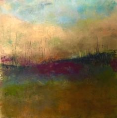 Oil and Cold Wax Painting, Lisamannfineart Landscape Artwork, Abstract Landscape Painting, Abstract Paintings, Wax Art, Oil Painting Texture, Encaustic Art, Oeuvre D'art, Les Oeuvres, Cool Art